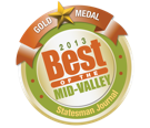 GOLD MEDAL WINNER - 2013 Best of the Mid-valley - Statesman Journal [badge]