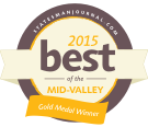 GOLD MEDAL WINNER - 2015 Best of the Mid-valley - Statesman Journal [badge]