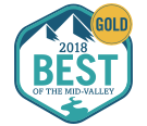 GOLD MEDAL WINNER - 2018 Best of the Mid-valley - Statesman Journal [badge]